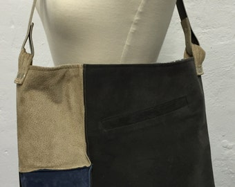 Upcycled Suede Patchwork Tote