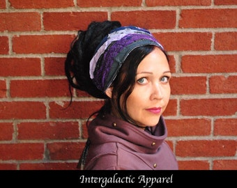 Dreadlocks headband, Dreadband, Hippie Hair Wrap Intergalactic Apparel, Gypsy clothes
