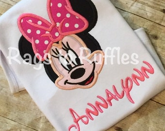 Minnie Mouse Inspired Personalized Shirt