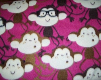 Our Monkey Faces Blanket