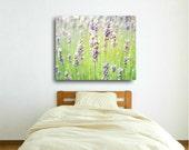 Lavender Field / Canvas Gallery Wrap / Purple Green Canvas Art / Flower Nature Wall Art 8x10 16x20 20x24   'Peacefulness of Lavender'