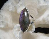 Beautiful Labradorite Ring Size 7.25