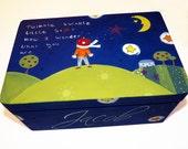 Personalized  Keepsake Box / Twinkle Twinkle Little Star Memory Box / Personalised Kids Storage Box /Nursery Decor