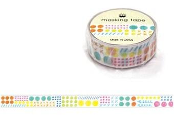Dots Pattern Masking Tape • Mind Wave Japanese Washi Tape (92910)