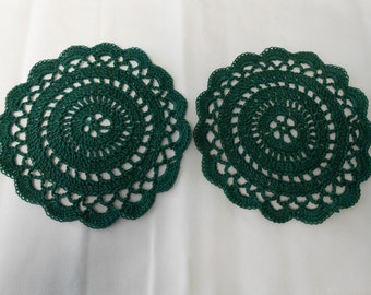 Set of 2- 5 inch round Doilies