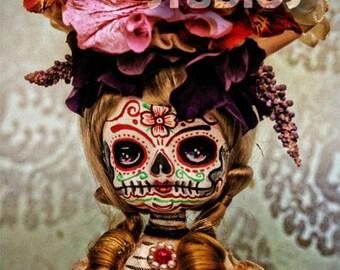 Steampunk Dia De Los Muertos Skull Doll canon PRINT 337 by Michael Brown/UC Studios