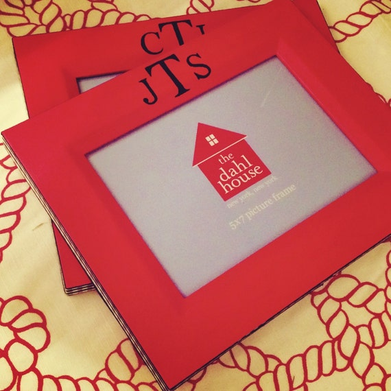 Monogrammed 5x7 picture frame
