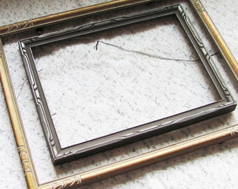 vintage wood picture frames, ornate art deco picture frames, wood frames for antique prints