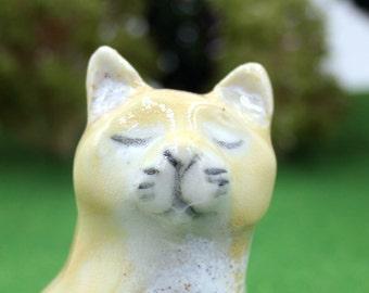 cat figurine - Flynn the Butter Kitten - Original porcelain sculpture