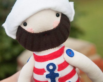 Sailor Sock Doll