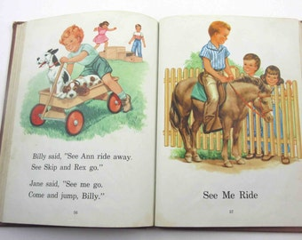 See Us Play Vintage 1950s Children's Reader or Textbook by Lyons and Carnahan