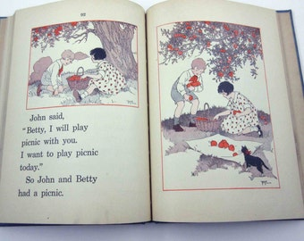 The Beacon Gate to Reading Vintage 1920s Children's School Reader or Textbook by Ginn and Co.