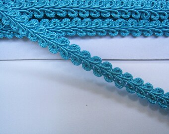 4 to 6 yards Medium Gimp Braid Trim 3/8 inch or 10mm Width - Choose Your Own Yards -Number 12 Bright Blue