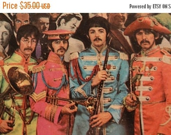 HUGE SALE 1967 The Beatles Sgt. Peppers Lonely Heart Club Band LP Capitol Smas-2653 + insert, Rock & Roll Music Vinyl Album, The Beatles