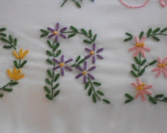 """Hand Embroidered """"Sweet Dreams"""" Pillowcases- Standard size"""