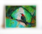 Perfect view, aceo original, 2.50 x 3.50 inches, aceo original, #miniature art, birds, bird aceo, little gifts, nature photography