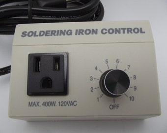 Choice Brand SOLDERING IRON CONTROL Rheostat Stained Glass 400 Watt Works with Any Supplies Supply