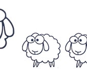 Vinyl Decal Build your own SHEEP FAMILY