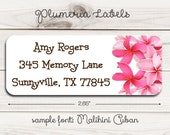 Plumeria Return Address Labels