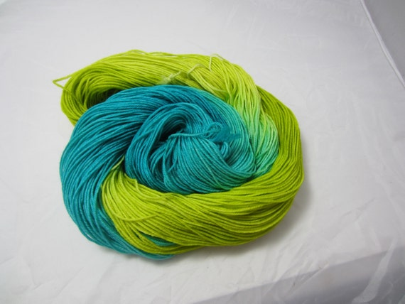 Grass & Sea - Dyed to Order - Hand Dyed - Merino Wool Yarn - Fingering Weight