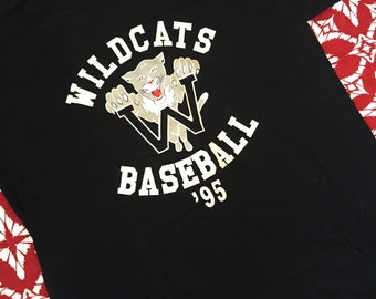 New and vintage 1995 wildcats baseball black tshirt size XL