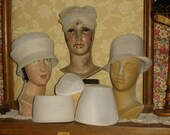 Reserved for Candace 6 Vintage Millinery Buckram Hat Form/ Base Ready to be Decorated #4