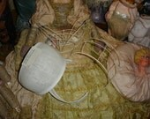 4 Vintage Bridal Crowns & 2 Buckram Headpiece Form / Frames #8