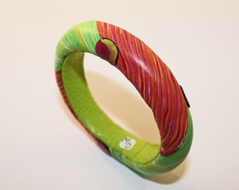 Spring Green and Fuchsia Bracelet
