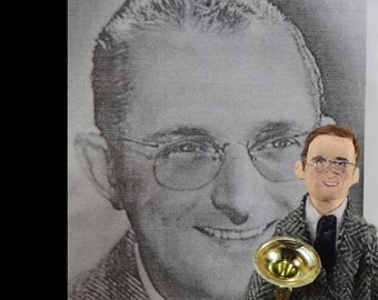 Swing Music- Tommy Dorsey- Miniature Doll- Unique Art- Jazz Musician- Music Legend