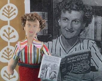 Mildred Wirt Benson- Carolyn Keene- Writer Doll- Art Miniature-  Author of Nancy Drew-Teen Book Author