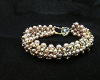 Golden Bracelet and Earring Set #6