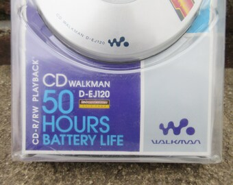 Vintage NIP Sealed Sony CD Walkman Player D EJ120 Rare Portable audio System Personal Music Player Headphones Collectible Unique Gift idea
