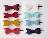 Felt bow hair clip- Choose a color