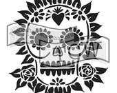 Sugar Skull Stencil: TCW653 6x6