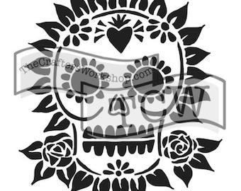 Sugar Skull Stencil: TCW653 12x12