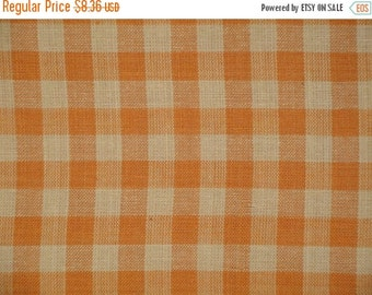 40% OFF SALE Homespun Material   Cotton Material    Quilting Material   Large Check Material   Bolt End 44 x 40