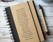Writing Journal, Blank Notebook, Gift for Writers, Graduation Gift, Mark Twain