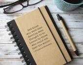 Writing Journal Quote Notebook Inspirational Gift for Writers Blank Book Teacher Gift for Artist Lined Journal Diary Friedrich Nietzsche