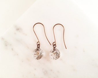 Mercury Glass Earrings