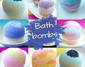 Gift for Her. Bath Bomb. Girlfriend. Best Friend. Wife Gift, Bath Fizzy Gift. COTTON CANDY SKIES Bath Bomb, Half size, Mom Gift. Bath Fizzy