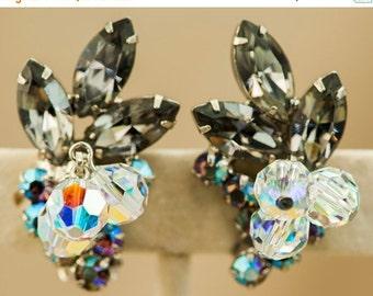 Juliana D&E Verified Bracelet and Earrings Black Diamond AB Rhinestone and Crystal