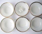 Vintage Fire King Golden Anniversary Swirl Berry Bowls Set of Six