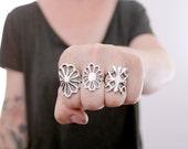 Vintage collection. Sterling silver Sand cast ring. Sand cast, flower ring, navajo ring, boho ring, silver ring, vintage flower ring.