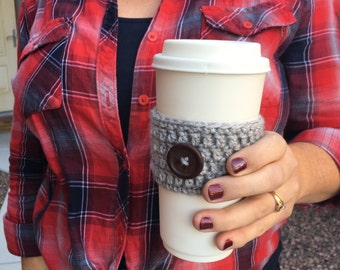 Winter Crochet Coffee Cozies