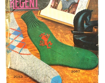 1940's Hand Knit Socks by Regent Volume 20 Made in Canada Moose and Lion Patterns