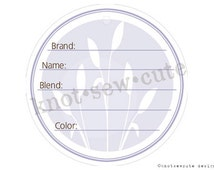 YARN TAG - Purple Stem - Printable PDF - Instant Download