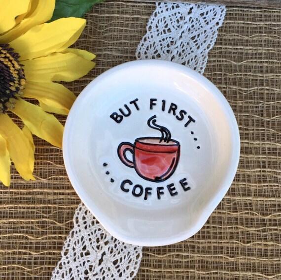 But First Coffee Spoon Rest Ceramic Spoon Rest Kitchen