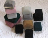 Lot of 14 Velvet Jewelry Boxes . RESERVED