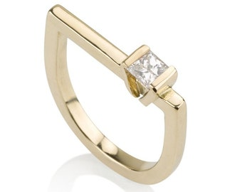 Valentine Ring, Geometric diamond Ring