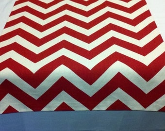 RED CHEVRON RUNNER- Zigzag red and white zig zag table runner,  Chevron lipstick red, wedding runner, shower runner, event runner
